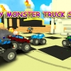 Blocky monster truck smash