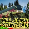 Hill climb bus stunts arena